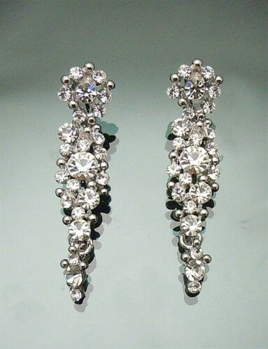 Vintage Swarovski Crystal Cer Chandelier Earring 4 5cm Long Bridal Earrings