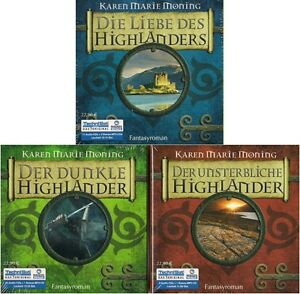 Karen-Marie-Moning-Highlander-TRILOGIE-30-CD-4-MP3-CD-NEU-Hoerbuch-CDs