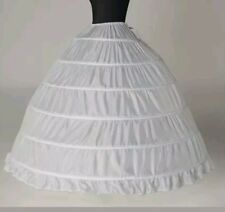 6 layer hoop skirt petticoat white -usa seller