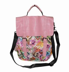 NEW-IMPORTED-FTFN-PRINTED-NYLON-WOMEN-039-S-3-IN-1-BAG-ROSE-PINK