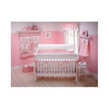 3 Piece Crib Bedding Set Comforter Baby Blanket S Pink Princess Nursery Home