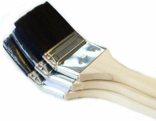 ROTIX 3x Heizkörperpinsel Ecken-Pinsel 3 Stück  70 mm schwarze Borste
