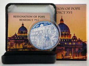 TOGO-2013-500-FRANCS-CFA-Silver-Coin-RESIGNATION-OF-POPE-BENEDICT-XVI-BOX-CoA