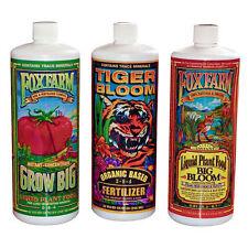 FoxFarm Grow Big Tiger Bloom Hydroponic Gardening Nutrients Trio Kit Pack
