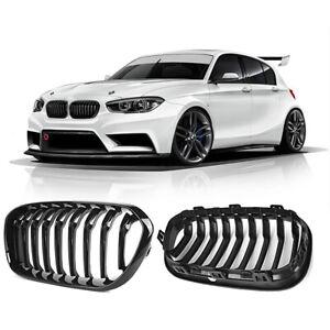 Grill-Kuehlergrill-fuer-BMW-F20-LCI-F21-LCI-1er-Schwarz-Glaenzend-Nieren-ersatz