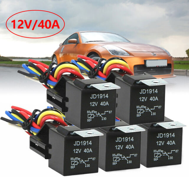 Boat Van 12v 30A 5 Pin ON OFF Automotive Relay Amp Car 87 Joined Motorbike