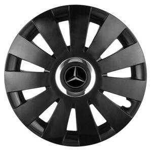 """16/"""" Adornos De Rueda Para Mercedes Vito Taxi Negro 4x16/'/'"""