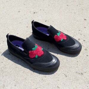 747a6f5276b61 Adidas Matchcourt Slip On Mens Size 7.5 Womens Size 8.5 Black Red ...