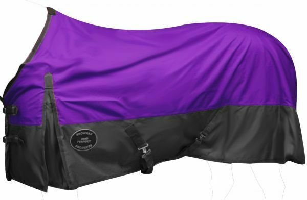 Showman 600 Denier Ripstop Nylon Turnout Waterproof Sheet in viola