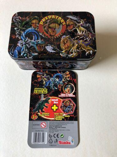 Predator /& arma dinosauri OVP LIBRETTO SIMBA Predators BOX IN METALLO