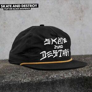 d7ce20f6540 Thrasher Magazine SKATE AND DESTROY PUFF INK Snapback Skateboard Hat ...