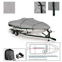 Lund 1600 Alaskan Ss Trailerable Fishing Bass Boat Cover Grey