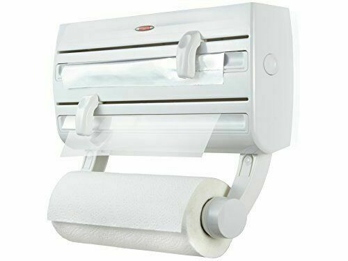 Leifheit Parat F2 Wall-Mounted Foil Cling Film and Kitchen Roll Holder Dispense