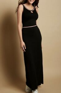 NEW-BRAVISSIMO-18-CRC-RSC-Black-Sporty-Trim-Maxi-Party-Work-Casual-Dress-BR72