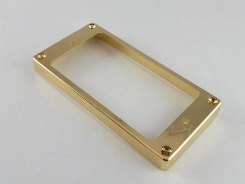 Humbucker Gebogen Beruhend Hals oder Steg-Pickup Einfassung Ringe in Chrom Gold