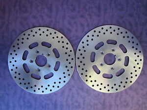 LEFT-amp-RIGHT-FRONT-BRAKE-DISCS-1984-1999-DYNA-SPORTS-STAINLESS-HARLEY-DAVIDSON