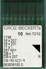 GROZ BECKERT AGHI PER MACCHINE DA CUCIRE INDUSTRIALI 16x231 DBX1 TAGLIA UK10/70