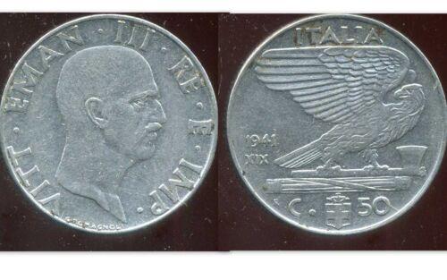 etat ITALIE  ITALY  50 centesimi  1941  magnetic