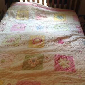 Pottery Barn Kids Full Queen Flower Quilt And Shams Ebay