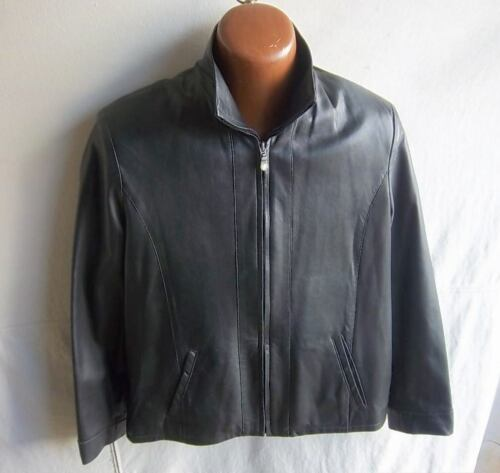 Black Hide Side front Supple Zip Læder Størrelse M Outfitters Women's Jacket qpqx7rntR