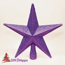 Décoration De Noël - Étoile Pour Sommet Sapin - Violet Paillettes - 20CM