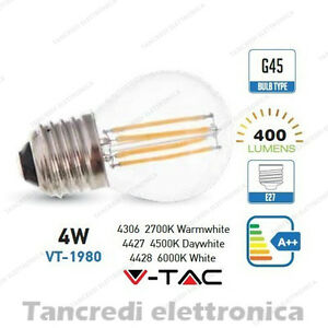 Lampadina-led-V-TAC-4W-40W-E27-VT-1980-G45-miniglobo-filamento-lampadine-bulbo