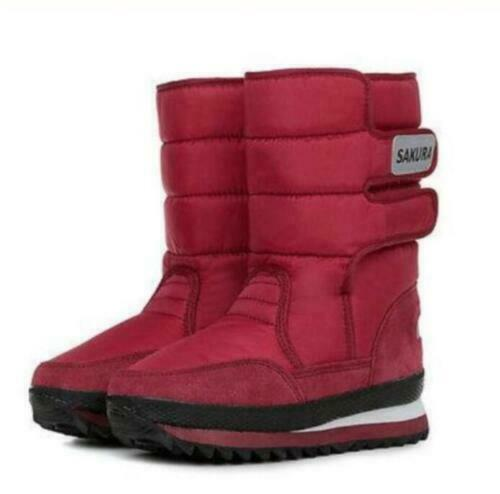 HOT WOMENS LADIES FUR LINED QUILTED RAIN MOON SKI WINTER SNOW BOOTS SHOES Yes