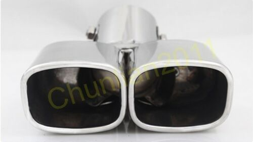 Steel Muffler Exhaust Tail Pipe Tip for 07-15 Land Rover Freelander 2 square 1ps