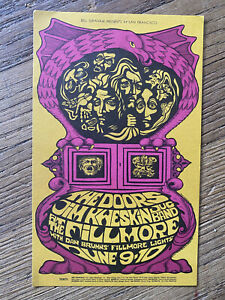 THE-DOORS-Bill-Graham-BG-67-Postcard-Fillmore-Type-C-1967-Psychedelic