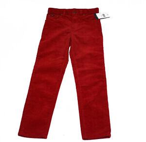 Polo-Ralph-Lauren-Boys-Size-7-Corduroy-Chino-Pants-Red-NEW