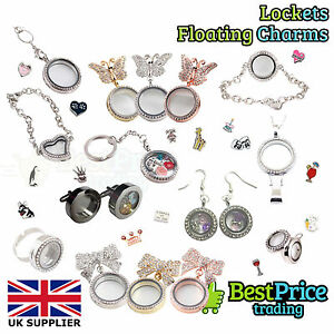 Image Is Loading Living Memory Floating Charm Earrings Cufflinks Lanyard Necklace