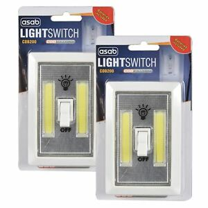 COB LED 2w Light Switch Super Bright Battery Powered No Wire Portable Night Lamp