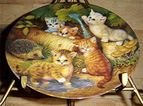 Kitten Expeditions KAHLA Jurgen Scholz German CAT ON THE GARDEN PATH Cat Plate