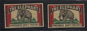 2 Anciennes étiquettes allumettes Italie Elephant tpt2HVKE-09091114-366775736