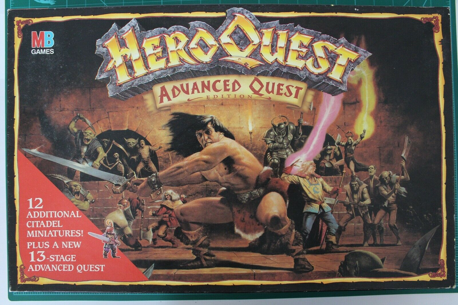HeroQuest Advanced Quest Edition Main Game 100% Complete Boxed Unpainted
