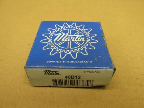 "NIB MARTIN 40B12 ROLLER SPROCKET 40 B 12 1//2/"" PLAIN BORE 12 TOOTH 1-9//16/"" HUB OD"