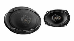 Pair Kenwood KFC-6966R Road Series 6 x 9 3-Way Car Speakers with Cloth Cones Black