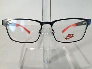 597dfaa69fff Nike 5575 Kids Metal Eyeglass Frame 001 Black   Red   Orange - NEW ...