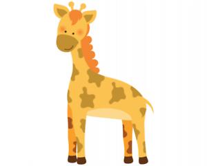 Samunshi-Giraffe-Aufkleber-Sticker-Autoaufkleber-Scheibenaufkleber