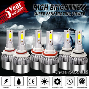 Combo 9006 9005 9006 LED Headlight Bulbs Kit Hi Lo Fog 6000K for Toyota AVALON