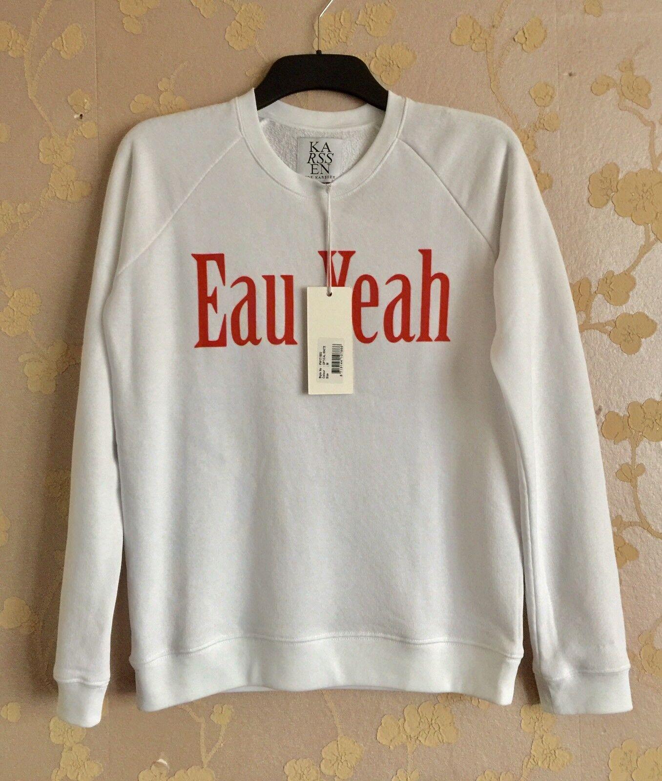 Zoe Karssen Women's White ' EAU YEAH' Sweatshirt Size M BNWT