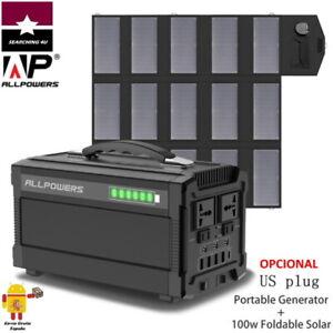 GENERADOR ESTACIÓN DE ENERGIA 78000 mAh PORTATIL SOLAR 220V 350-500W. DE ESPAÑA