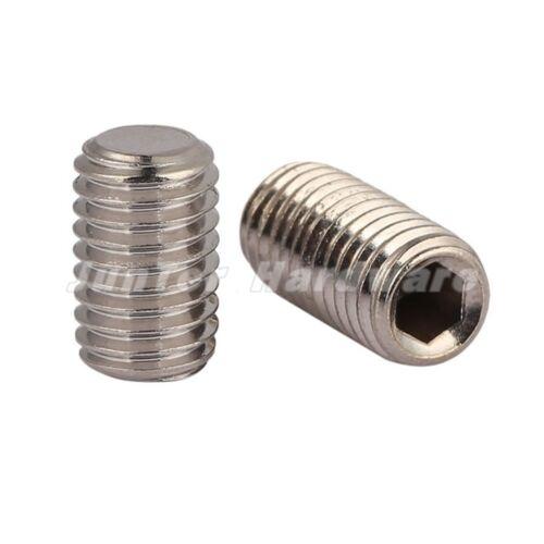 5mm M5 A2 Stainless Steel Flat Point Grub Screws Hex Socket Set Screw DIN913