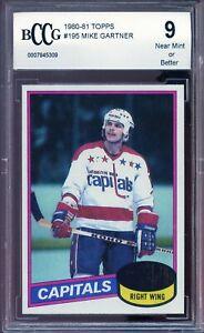 1980-81 Topps #195 Mike Gartner Card BGS BCCG 9 Near Mint+