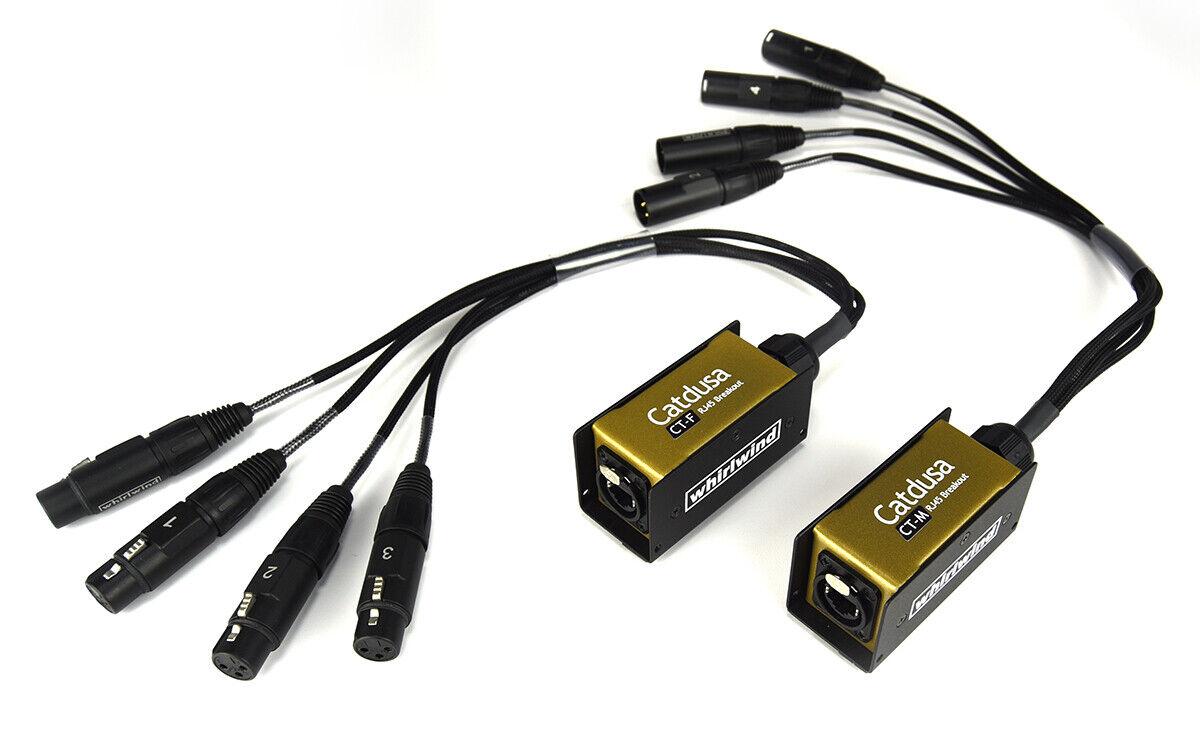 Image 1 - Catdusa CT-M & CT-F 4 channel Mini Snake Box Neutrik Ethercon to XLR Pair