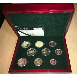 COFFRET BE LUXEMBOURG 2013 1 CENT A 2 EURO + 2 EURO CC KMS LUXEMBURG PP PROOF