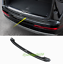 Black titanium Rear Bumper Guard Sill Protector Plate For Audi Q7 2016-2019