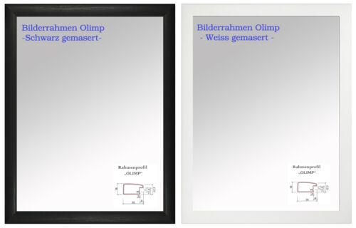 Antireflex ab DIN A0 bis DIN A6 Foto Rahmen Neu B-1 Bilderrahmen Gemasert