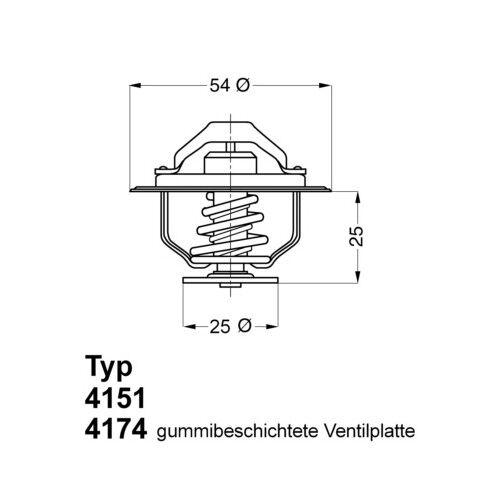 Aible réfrigérant Thermostat FIAT RENAULT OPEL IVECO RENAULT TRUCKS 1106832