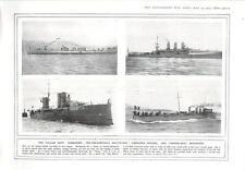 1915 sottomarino della Marina italiana Battaglia-SHIP TORPEDO-BARCA Cacciatorpediniere Incrociatore corazzato